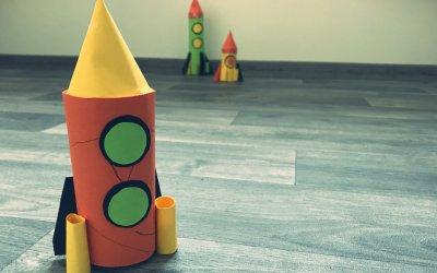 Raketa z papírové ruličky