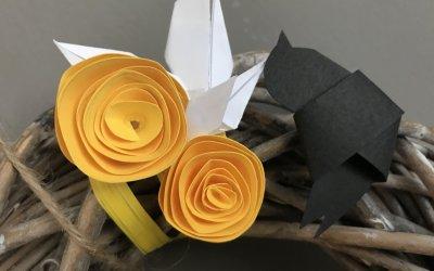 3 jednoduché dekorace jarních věnců