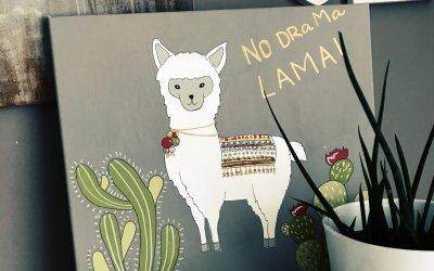 DIY Lama na plátně