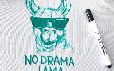 DIY Lama na tričko